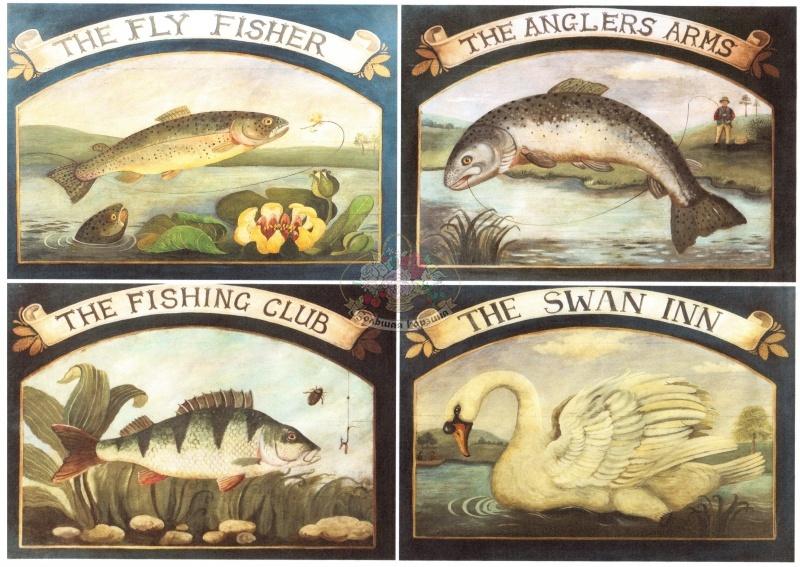 декупажная карта рыбалка